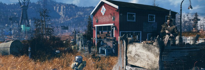 Игрок Fallout 76 построил лагерь для помощи новичкам