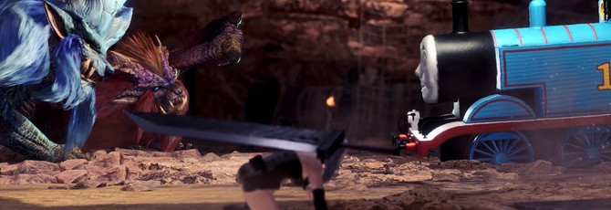 Паровозик Томас стал боссом в Monster Hunter: World благодаря моду