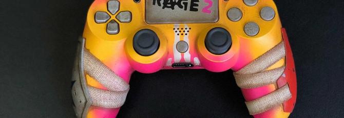 Bethesda разыгрывает геймпады PS4 и Xbox One, стилизованные под Rage 2