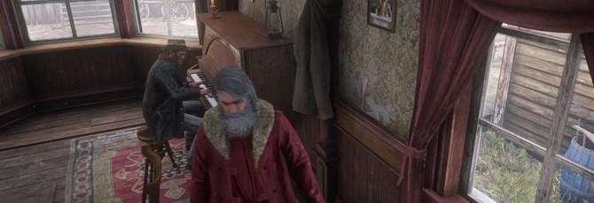 NPC-пианисты Red Dead Online начали играть рождественские мелодии