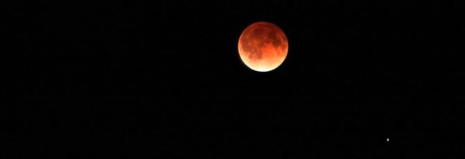 Полное лунное затмение — комбинация трёх астрономических явлений