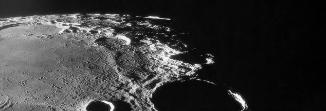 В минутном ролике были смоделированы падения метеоритов на Луну за миллиард лет