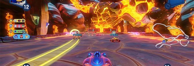 Вулканическая трасса на новых скриншотах Team Sonic Racing