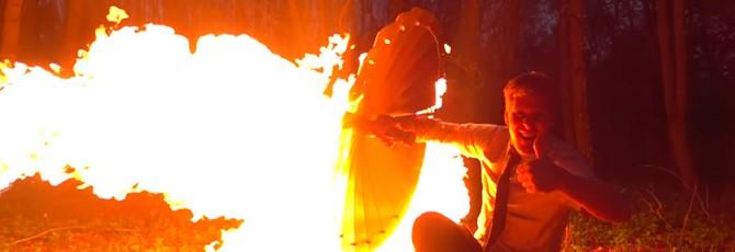 Британец создал щит из Sekiro: Shadows Die Twice и протестировал его огнем