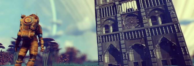 Игрок No Man's Sky построил в игре фасад Нотр-Дама