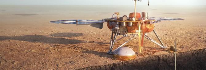 Аппарат NASA впервые зафиксировал на Марсе землетрясение