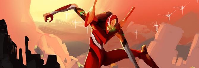 Уничтожение врагов Эйфелевой Башней в первых десяти минутах Evangelion 3.0 + 1.0