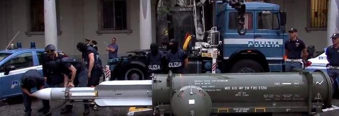 """Во время облавы на неонацистов итальянская полиция изъяла ракету класса """"воздух-воздух"""""""