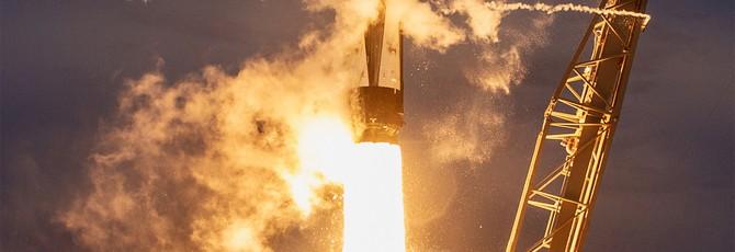 Взгляните, как SpaceX ловит головной обтекатель Falcon 9