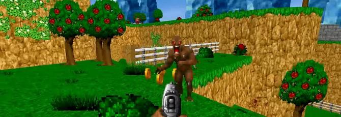 Моддер превратил Doom в платформер в стиле Mario