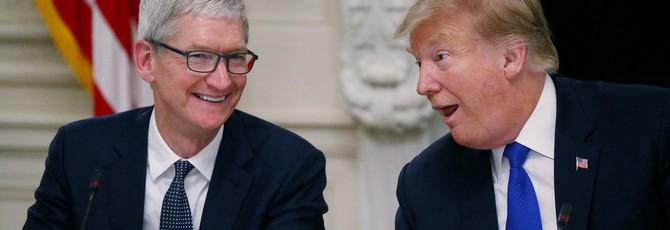 Глава Apple убедил Трампа пересмотреть вопрос о торговой войне с Китаем