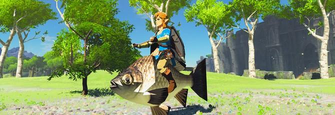 Игрок обнаружил невероятно легкий способ ловли рыбы в Zelda: Breath of the Wild