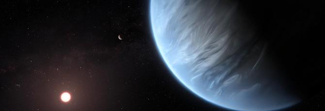 """Телескоп """"Хаббл"""" обнаружил водяной пар в атмосфере экзопланеты K2-18b"""