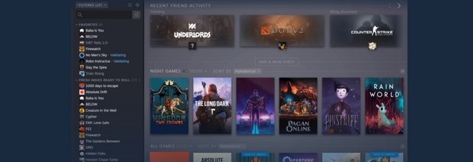 Valve запустила открытое тестирование новой библиотеки Steam