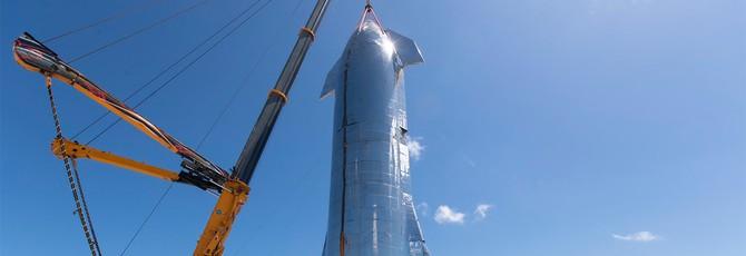 SpaceX соединила две части Starship в одну большую ракету