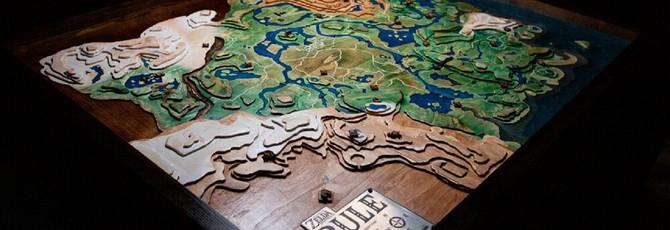 Фанат Breath of the Wild построил огромную деревянную карту королевства Хайрул