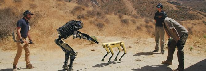 Фейк: Робот Boston Dynamics убегает от людей с другим роботом