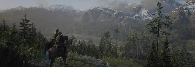 Прекрасный Дикий Запад в геймплее Red Dead Redemption 2 c трассировкой лучей
