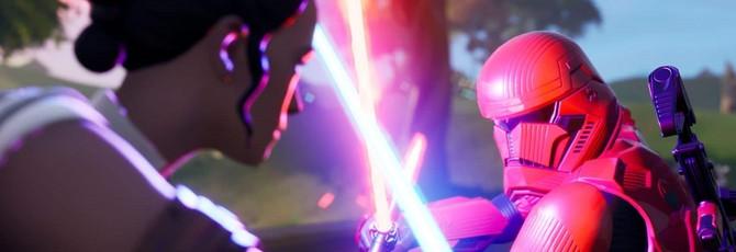 Игроки в Fortnite устраивают настоящие дуэли на световых мечах
