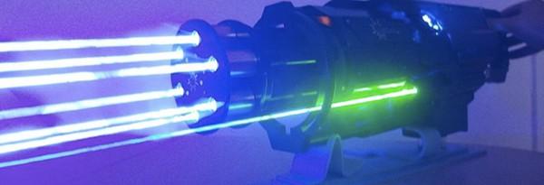 Реплика лазерной винтовки... это мило. Но как насчет Лазера Гатлинга?
