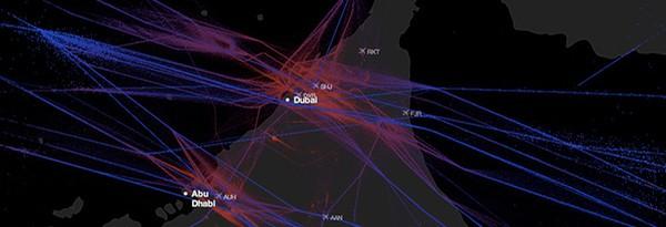 Sunday Science: визуализация воздушных путей в аэропортах