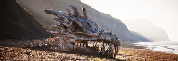 Art: Останки дракона для рекламы Game of Thrones
