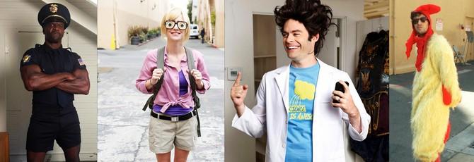 Актеры в костюмах своих персонажей