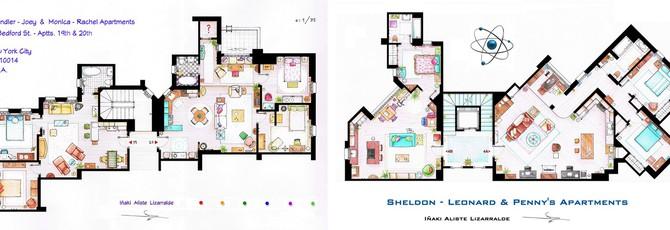 Art: Планы домов из сериалов