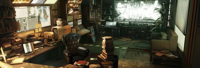 Сцена Deus Ex: Human Revolution воссозданная на Unreal Engine, выглядит как концепт-арт