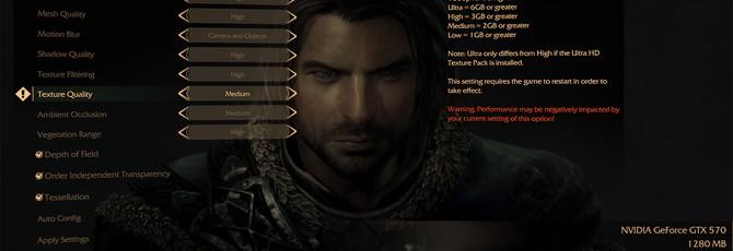 Middle-earth: Shadow of Mordor требует 6 Гб VRAM для ультра-текстур на PC
