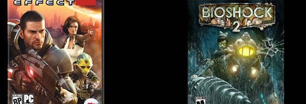 Box art Bioshock 2, Mass Effect 2