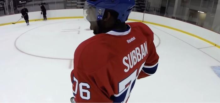Хоккей от первого лица с GoPro