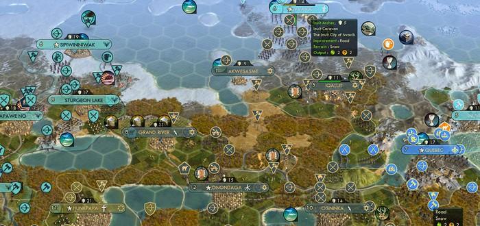 Самая эпичная партия Civilization: 42 ИИ друг против друга