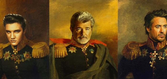 Знаменитости в качестве русских генералов