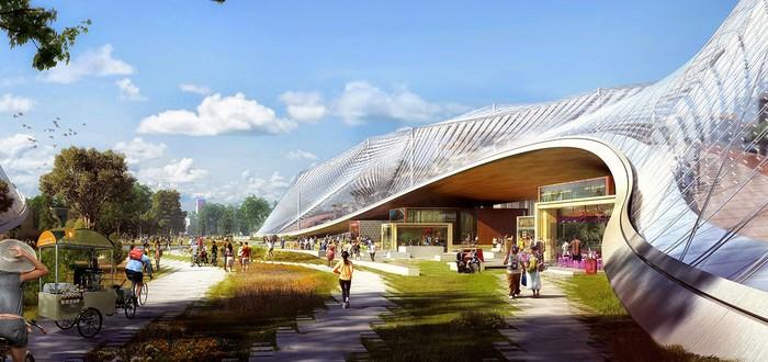 Новый кампус Google будет покрыт гигантскими навесами