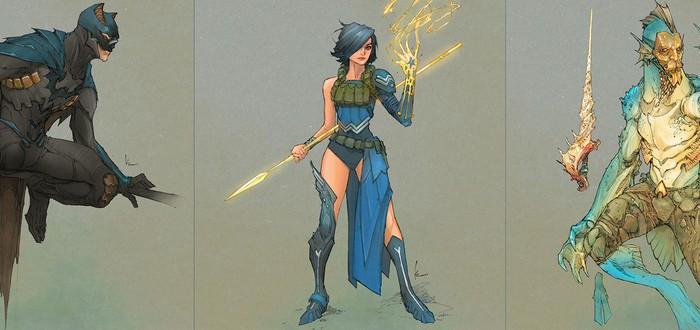 Short: Редизайн героев DC