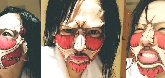Японские оздоровительные маски с принтом Attack on Titan