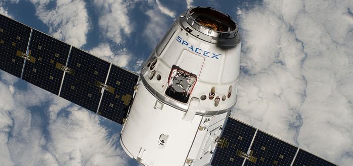 Видео системы экстренной эвакуации космического челнока SpaceX
