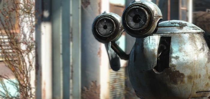 Робот из Fallout 4 рассказывает шутки на E3 2015