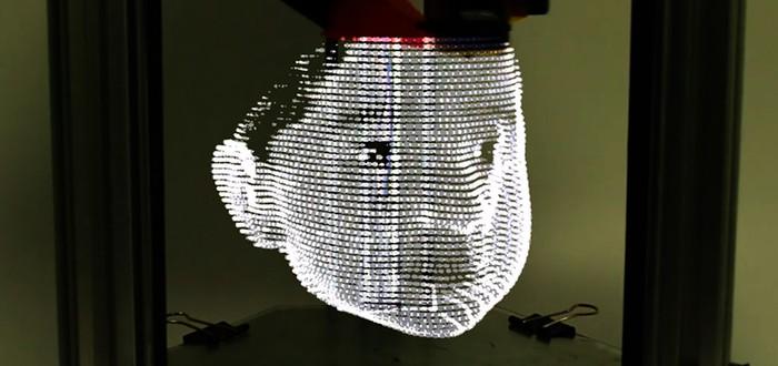 3D принтер печатает светом