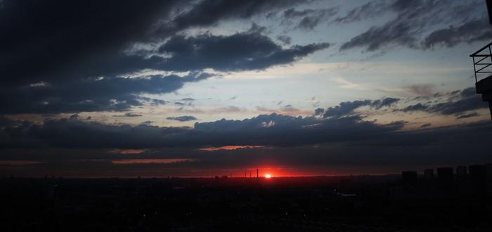 Фотоблог: Солнце на горизонте