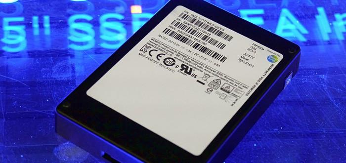 Samsung показала самый объемный SSD в мире – 16 Тб в 2.5 дюймах