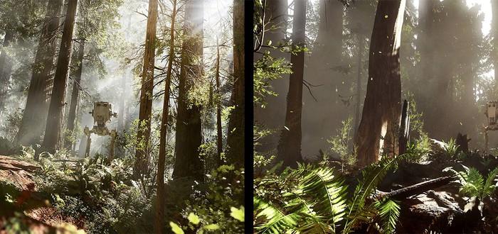 Сцена Star Wars: Battlefront на CryEngine