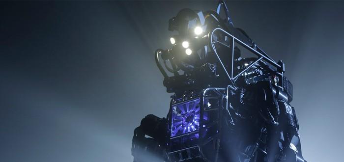Двуногий робот Boston Dynamics пробежался по лесу