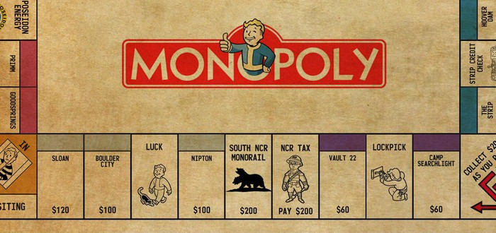 Игральная доска для Монополии по Fallout: New Vegas
