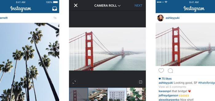 Instagram – теперь не только квадратные фото
