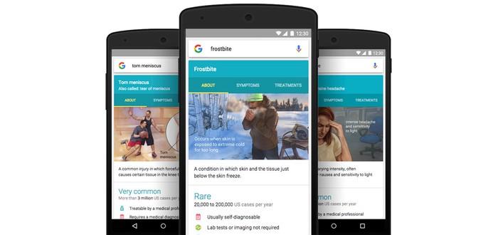 Google Now теперь рассказывает о болезнях