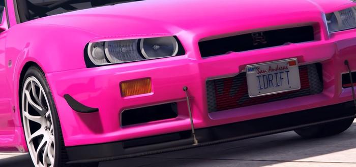 Дрифт-монтаж в GTA 5 на Nissan Skyline