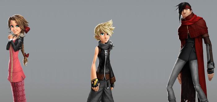 Персонажи Final Fantasy VII в виде героев мультфильма