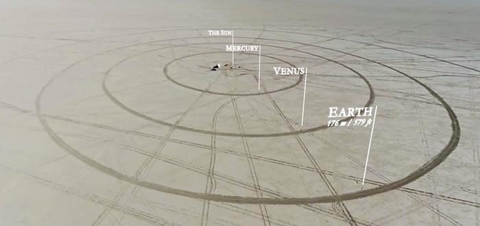 11-километровая модель Солнечной системы